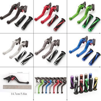 CNC Adjustable Motorcycle Brake Clutch Lever Hand Bar Grips Set Motorcycle Accessories For BMW R1200RT/SE 2010-2013 K1200S 04-08 image