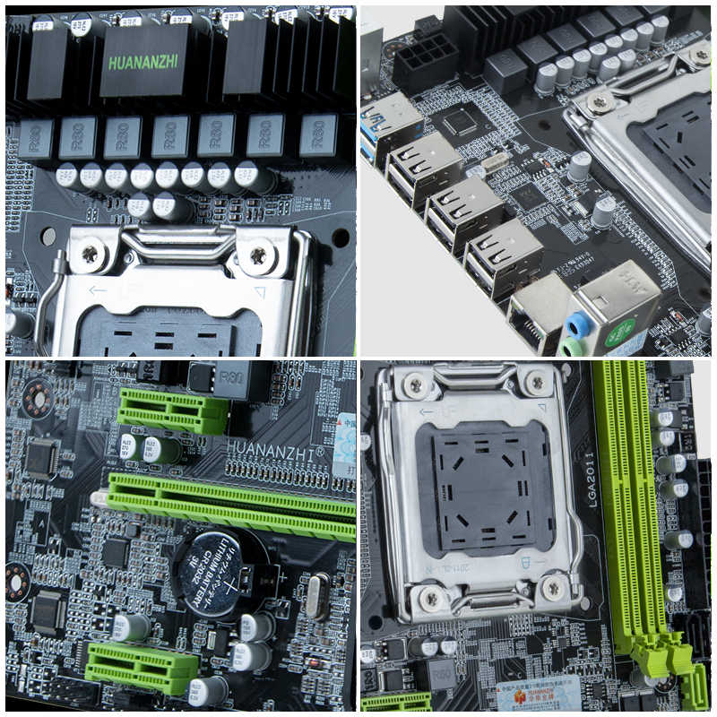 كمبيوتر بناء HUANANZHI X79 اللوحة الأم CPU RAM مجموعات X79 LGA2011 اللوحة الرئيسية وحدة المعالجة المركزية Xeon E5 2660 C2 RAM 16G (2*8G) DDR3 REG ECC