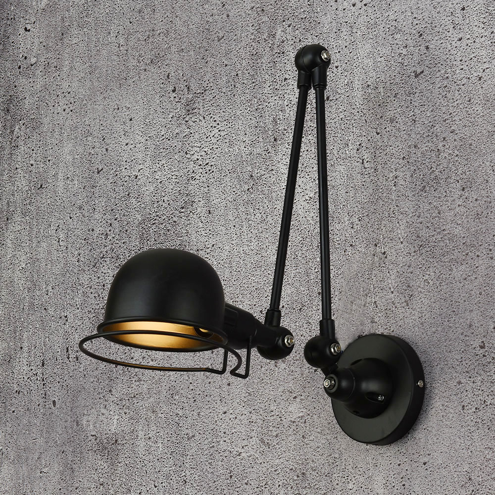Nordic Retro Loft Industrial Adjustable Wall Lamp Vintage LED Wall Sconce Lights for Living Room Bedroom Bathroom Light Fixtures