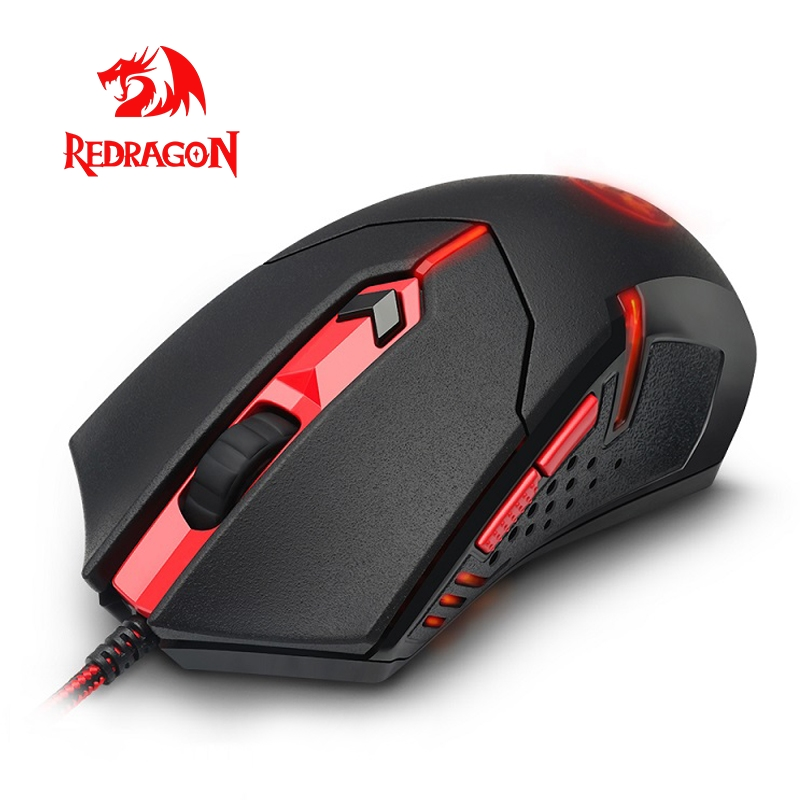 Redragon CENTROPHORUS M601 USB Gaming Mouse Wired 3200DPI 5 Buttons Ergonomic For Computer Programmable Mice Gamer LOL PC
