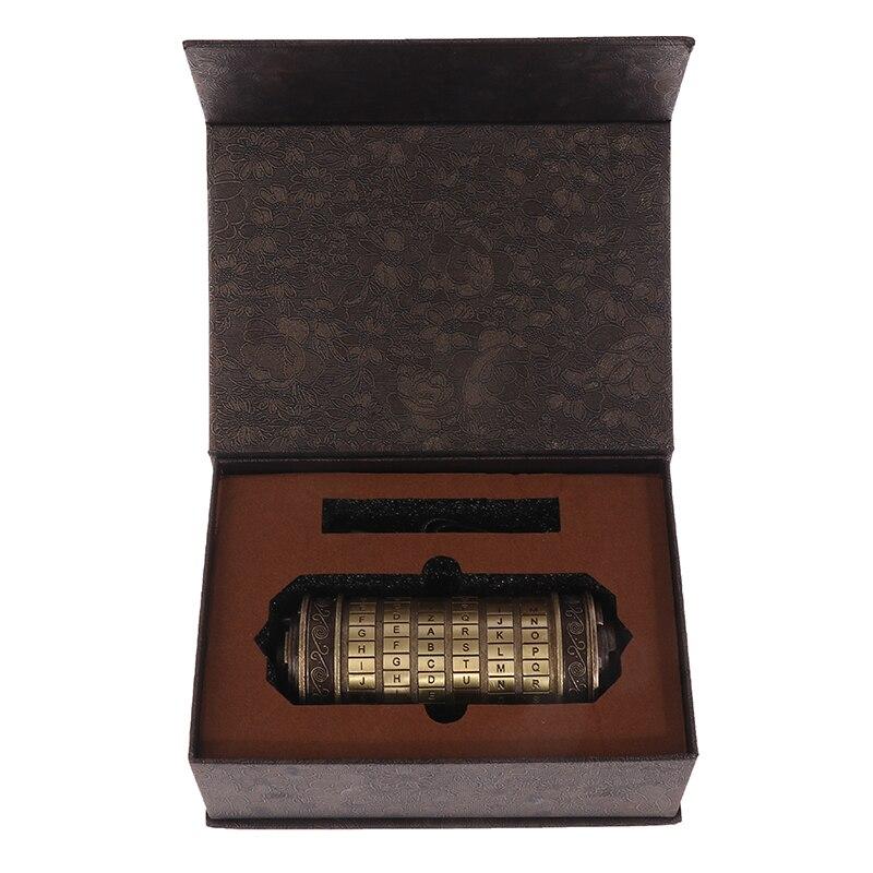 Da Vinci Code Toys Metal Cryptex Locks Wedding Gifts Valentine's Day Gift