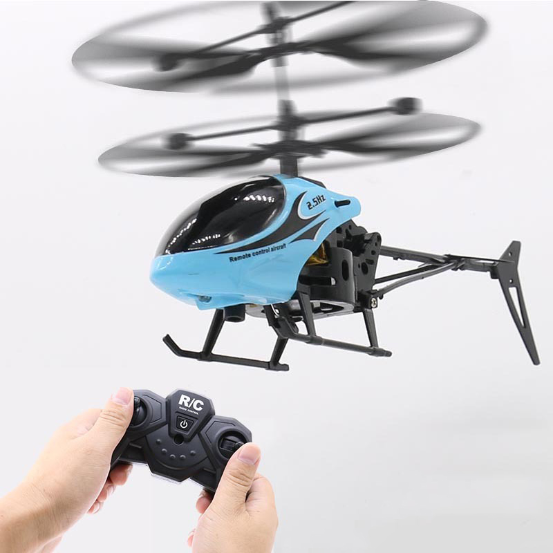 2CH Two-way RC Drone Mini RC Helicopter With LED Light Suspension Induction Electronic Model Remote Control Toys Gifts For Kids 2