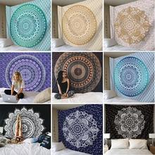 India Mandala Tapestry Wall Hanging Cloth Tapestries Elephant Psychedelic Hippie Carpet Gobelin Tapiz