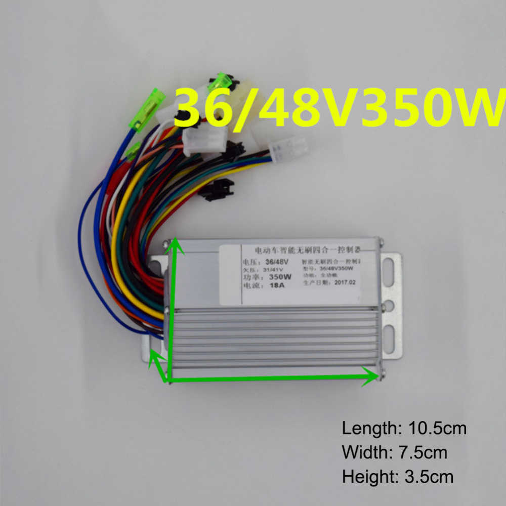 36V 48V DC Motor Controller 350W Electric Bicycle E-bike Scooter Brushless Speed Controller 103x70x35mm For Electric Bicycle E-b