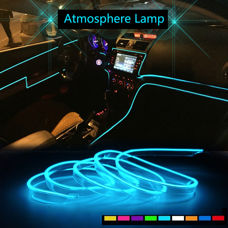 car interior accessories atmosphere lamp EL cold light line <font><b>LED</b></font> Ambient Light For <font><b>Renault</b></font> sceni c1 c3 <font><b>modus</b></font> Duster Logan Sandero image
