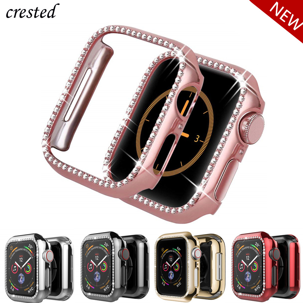 Bling Bumper For Apple Watch Case Cover Apple Watch 5 4 44mm 40mm 42mm 38mm Diamond Protector Case IWatch 4 3 2 1 Accessories 38