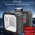 ABS двухсторонние фары Портативный прожектор P70 Светодиодный прожектор usb зарядка супер яркий Многофункциональный наружный фонарик