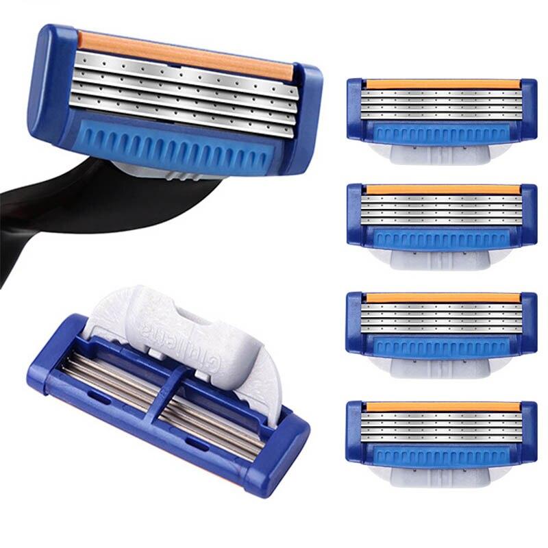 4pcs/lot Shaver Razor Blades Cassette Shaving Blade For Men Face 4-Layer Blades Compatible For Gillettee Mache 3 Machine