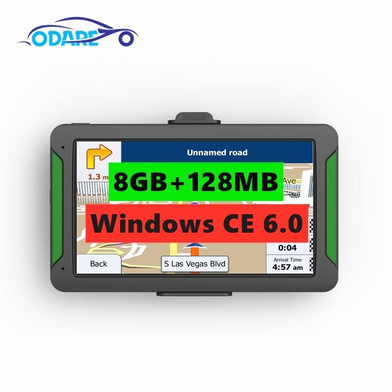 Odare 7 zoll HD Auto/Lkw GPS Navigation 800 M/8 GB/128 MB Karten Für Russland /Belarus/Kasachstan Europa/USA/Kanada gps navigator WINCE