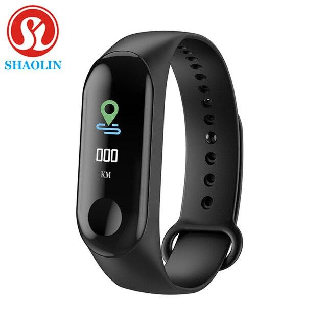 SHAOLIN – Bracelet connecté, moniteur de fréquence cardiaque continue, écran tactile, moniteur dactivité physique, TPE