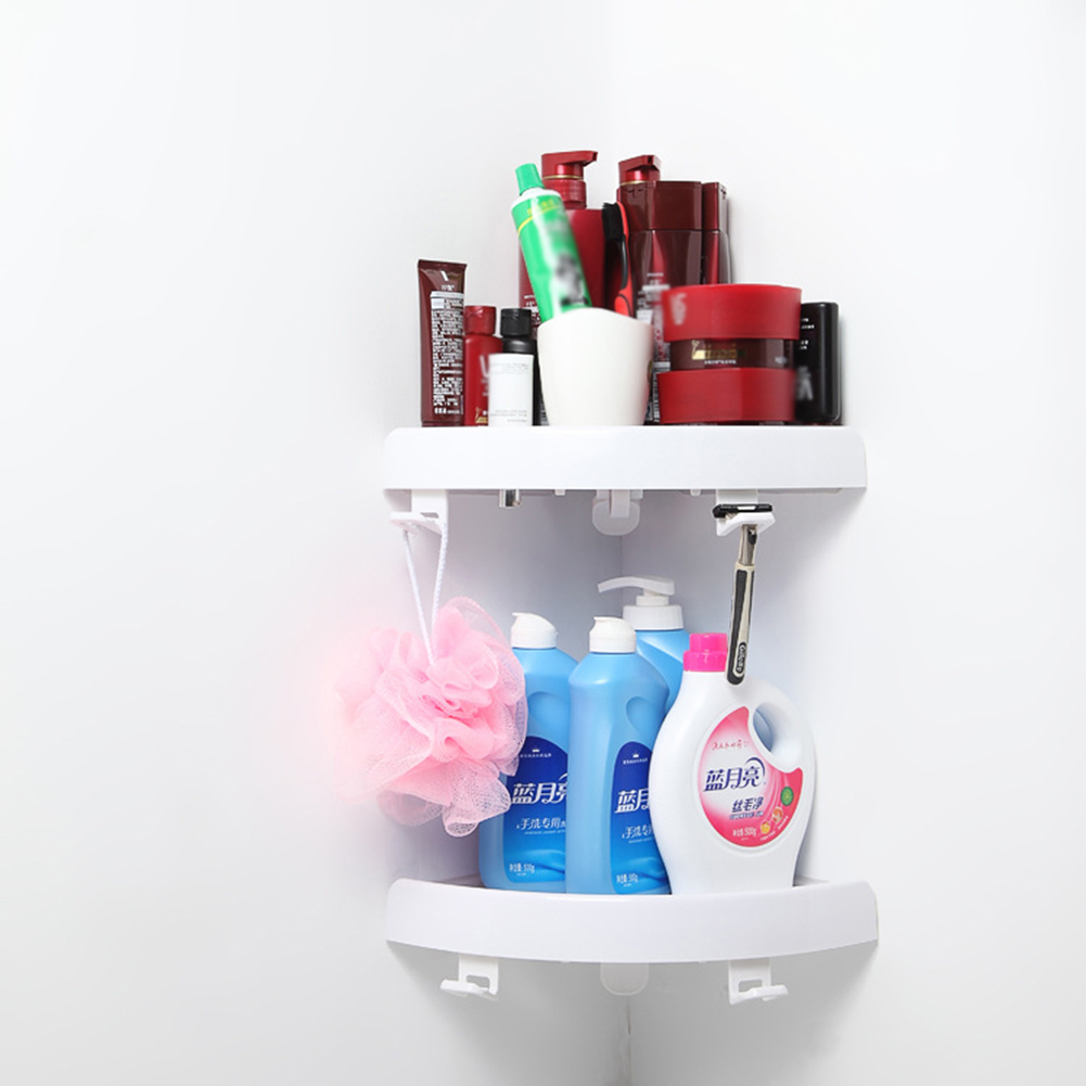 Bathroom Shelf Plastic Triangle Storage Rack Bathroom Shampoo Shower Finishing Rack Bathroom Punch Free Corner Shelf Organizer