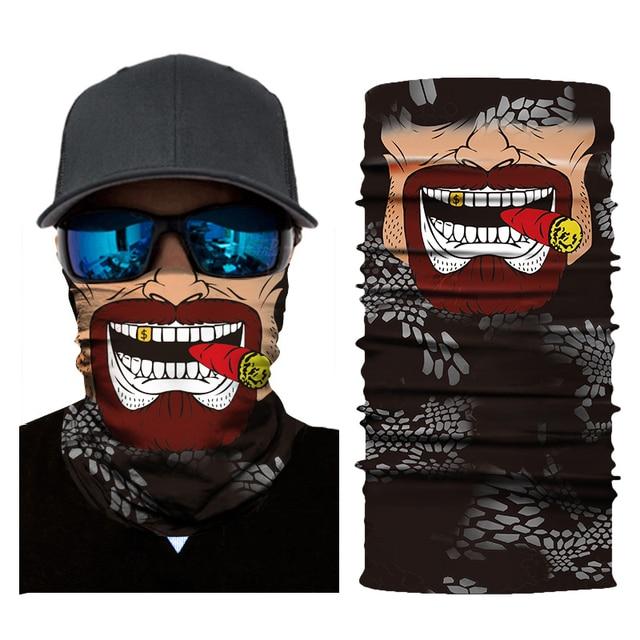 Motorcycle Face Shield Biker bandana Skull Face Mask Ghost Balaclava Mascara Moto Kominiarka Cagoule Visage Ghost foulard Moto 1