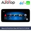 AUTOTOP автомобильный стереоплеер Qualcomm Android для Benz A CLA GLA CLass W176 C117 X156 2013-2018 Carplay Авто аудио GPS Мультимедиа