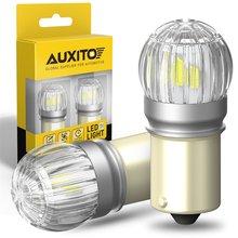 AUXITO – lumière de voiture pour Skoda Superb Octavia 2 MK2 FL A5 1156 2009 2010, 2 pièces, 1500Lm 2011 BA15S P21W 3030SMD LED