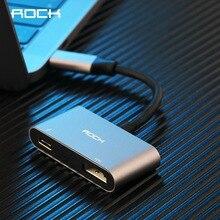 ROCK USB HUB USB C zu HDMI Adapter 4K Typ-C zu HDMI PD Schnelle Lade Konverter Kabel für MacBook Huawei Mate 20 Samsung Galaxy S9