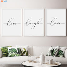 Live Laugh Love Canvas Poster Print Painting Minimalist Wall Art Wall Pictures for Living Room Nordic Decoration Home(China)
