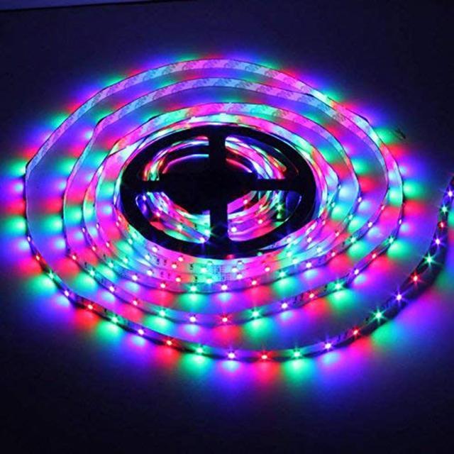 5M USB LED Strip lamp 3528SMD DC12V RGB Waterproof String Diode Flexible LED light Tape Ribbon WiFi Contoller+Adapter plug