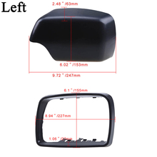 MagicKit Mirror For BMW E53 X5 2000-2006 Side Door Rearview Mirror Trim Ring Frame Mirror Cover Cap Black Car Housing Part Left pair of side mirror glass heated 51167039598 for bmw x5 e53 2000 2006