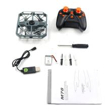 Skytech M78 Five-way Induction Remote Control Four-axis Drone 4CH RC Folding Drone Altitude Hold RC Helicopter with LED Light(China)