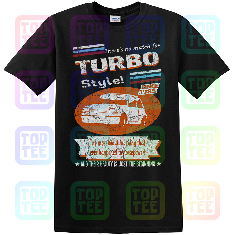 <font><b>Renault</b></font> <font><b>5</b></font> <font><b>GT</b></font> <font><b>Turbo</b></font> 1985 Retro Stil Mens Auto T-Shirt image