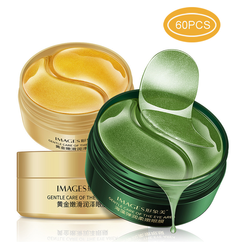 Circles-Bags Gel-Patch Eyes-Mask Ageless Hydrogel Collagen Anti-Wrinkles Gold Dark Korean