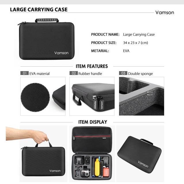 Vamson New Mini Universal Tripod Monopod Large Package Set for Go Pro Hero 9 8 7 6 5 4 Accessories for Eken h8r for phone VS188 3