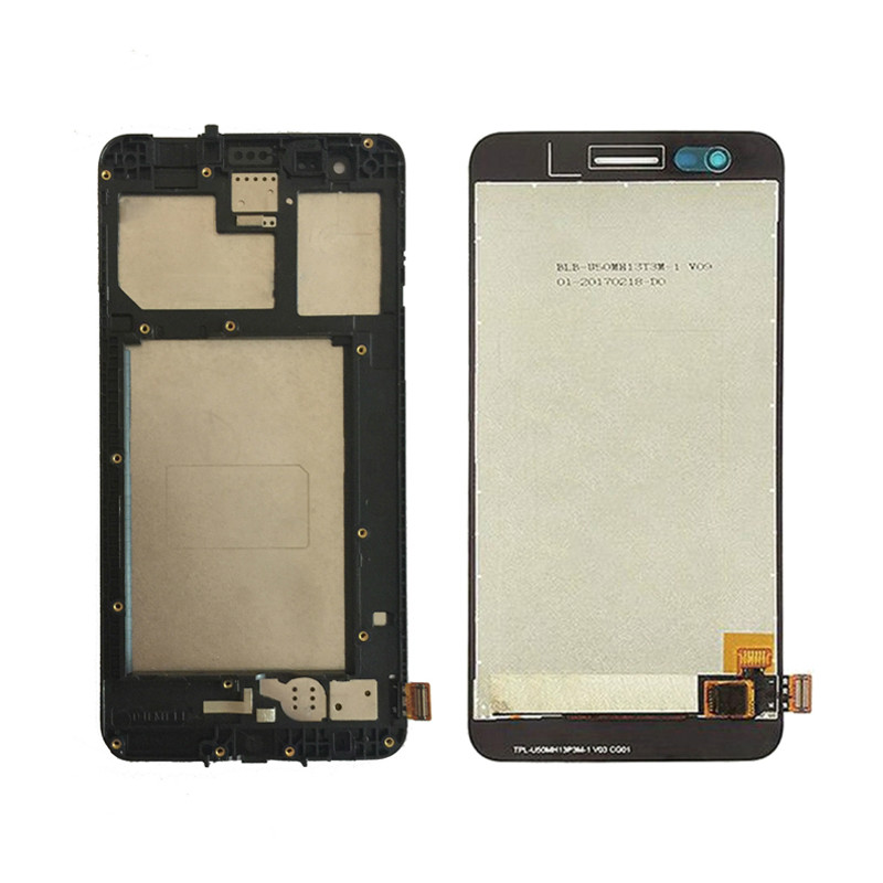 100% Tested high quality For <font><b>LG</b></font> <font><b>X230</b></font> X230I X230K K7 2017 <font><b>LCD</b></font> Display Touch Screen Digitizer Black,No/with Frame image