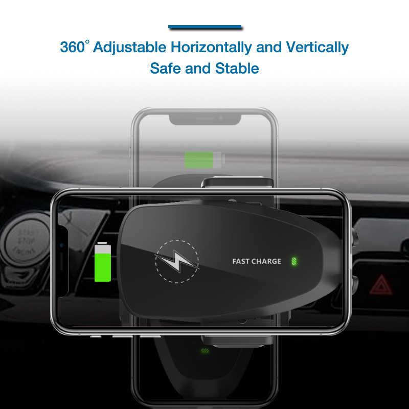 10W Auto Draadloze Oplader Voor Samsung S10 Plus Qi Draadloze Fast Charger Auto Telefoon Houder Voor Iphone Xiaomi Huawei auto Opladen