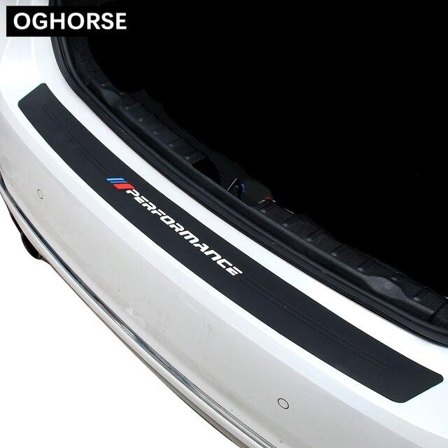 Protecteur de plaque pour BMW 3 F30 F31 F34 E46 E90 F80 M3 | Nouveau M pare-choc arrière de coffre de voiture de Performance, autocollant pour BMW 3 F30 F31 F34 E46 E90