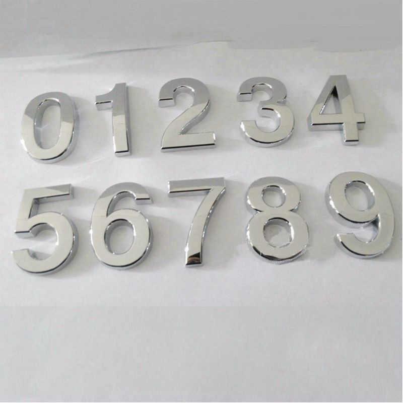 1 adet moda kaplama ev dekor adres makas haneli otel kapı etiket plakası işareti ev numarası plak 5cm gümüş modern