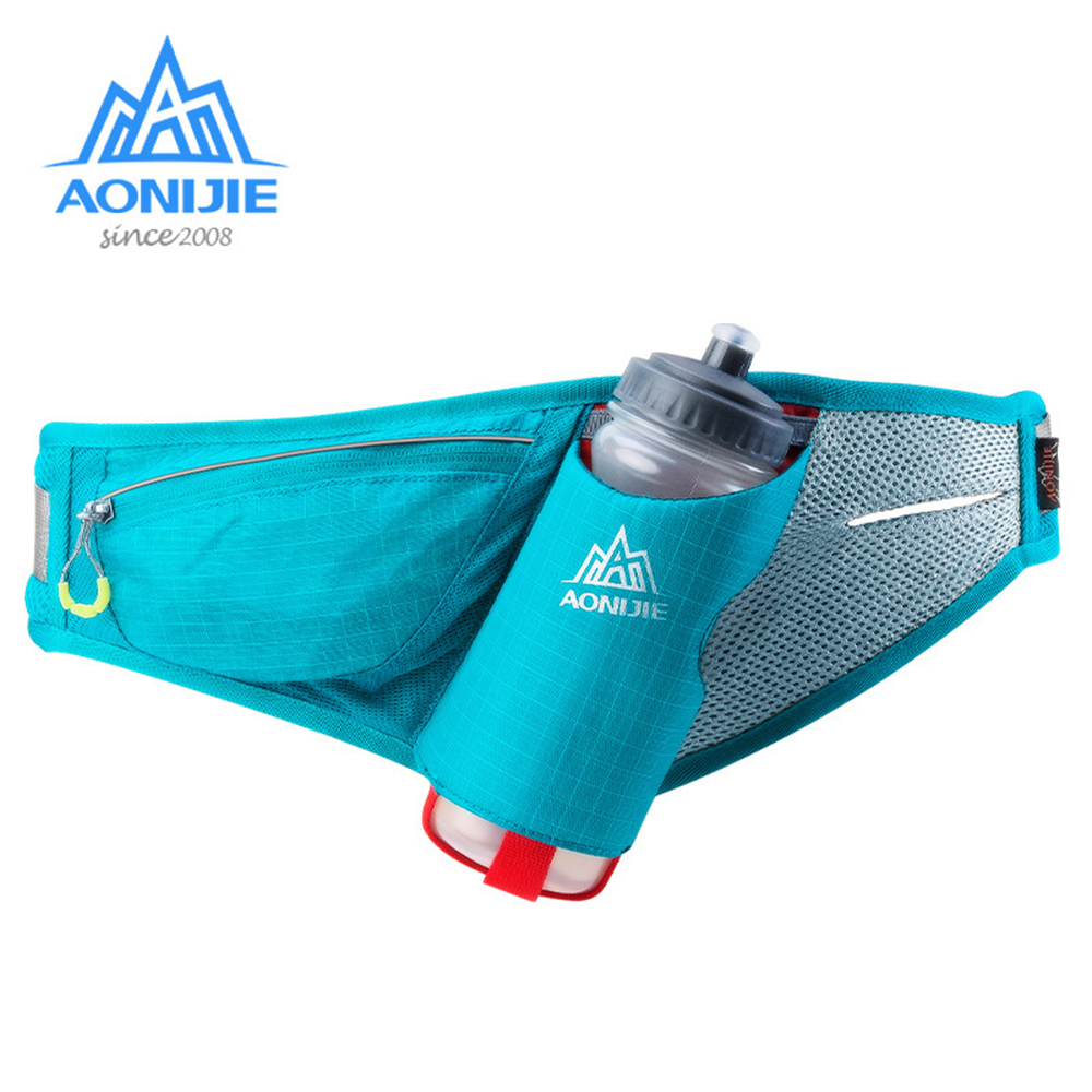 AONIJIE E849 Marathon Jogging Cycling Running Bags Hydration Belt Waist Bag Pouch Fanny Pack Phone Holder For 750ml Water Bottle