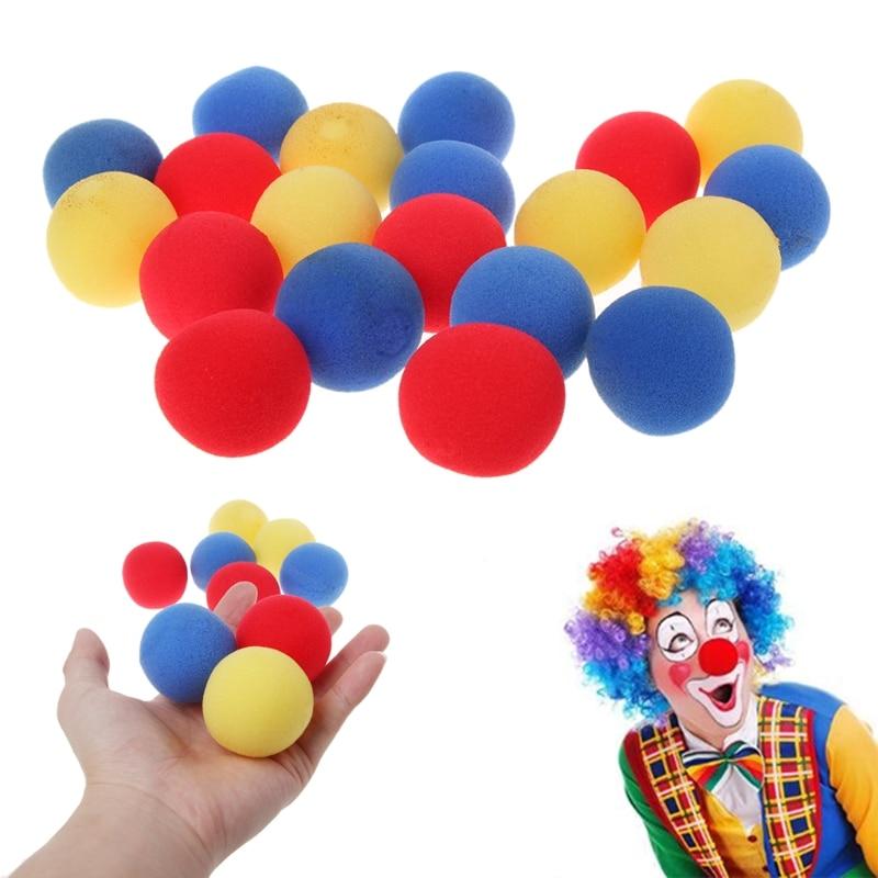 20Pcs 4.5cmFinger Magic Tricks Props Sponge Balls Street Classical Stage Tricks