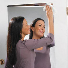 Наклейки на стену с зеркальной поверхностью прямоугольная самоклеящаяся декорация для спальни интерьерная наклейка Decoracion Hogar модерано Прямая поставка c
