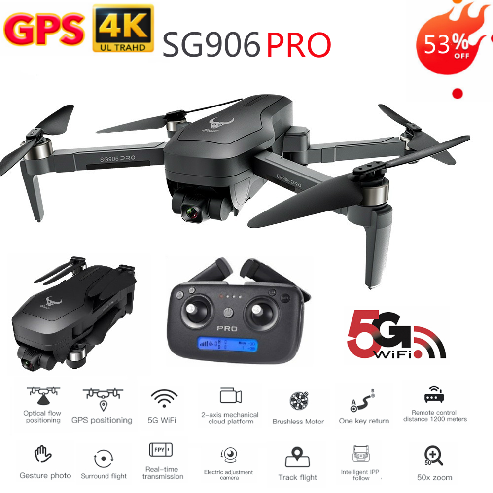 SG906 Pro GPS Drone 4k Two axis shock absorbing Gimbal 5G WIFI Supports SD card Professional drones 1.2km Distance VS X35 L109RC Helicopters   -