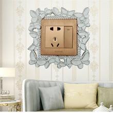 Креативный мультфильм diy Наклейка на стену для выключателя
