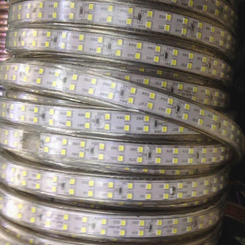 IP68 Fila Dupla à prova d' água 220 240V 100M 2835 Led Luz de Tira 180 leds/m Fita Frio /neutro/Warm White Alto Brilho Ao Ar Livre - 4