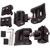 2X Aluminum Hood Latch Locking Catch Buckle For Jeep Wrangler JK Unlimited 07 18|  -