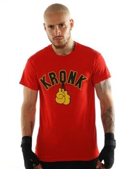 Kronk Boxing Gym Detroit guantes para hombre Camiseta roja