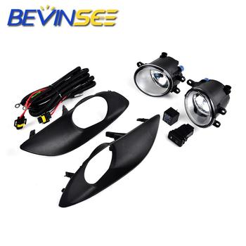 FOR Car Brand New Front Bumper Clear Fog Lights Lamps w/ Switch for Toyota Yaris 2009-2011 Hatchback