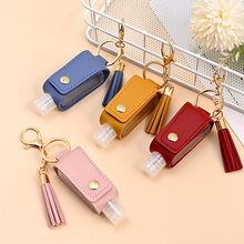 NEW 30ml Hand Sanitizer Case Mini Disinfectant Hands Portable Hydroalcoholic Bottle Hand Sanitizer Leather Case Health Keychain
