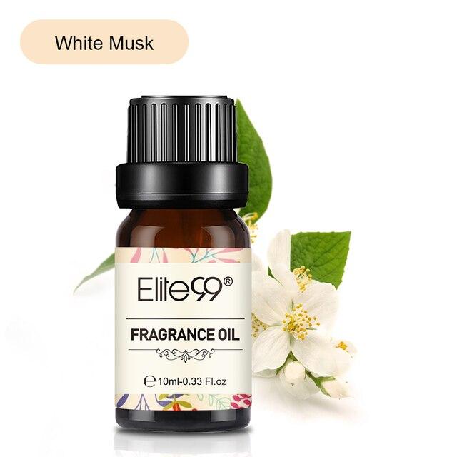 Elite99 10ml Weiß Moschus Duft Öl Blume Obst Natürliche Ätherische Öle Für Massage Aroma Aromatherapie-luftbefeuchter Freshing Luft