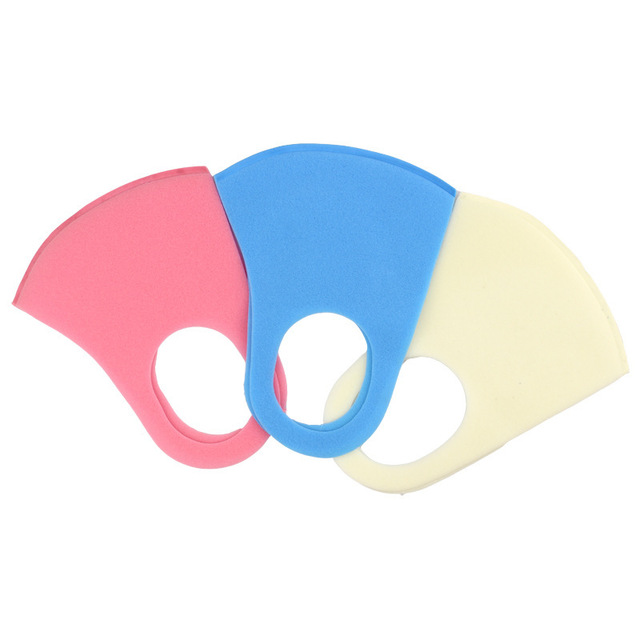 Multiple colour Sponge PM2.5 mask dust mask on the mouth  bacteria proof Flu Dust Washable Windproof mouth mask Reusable masks 3
