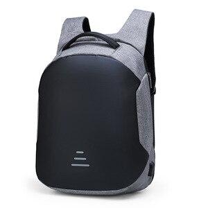Рюкзак для путешествий на открытом воздухе дышащей кожане мужские рюкзак с защитой от краж-корейски Повседневное мульти-функциональный USB