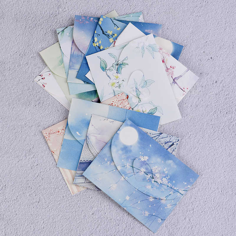 Scrapbooking sevimli çin Vintage tarzı çiçekler kağıt zarf mektup 10 adet yaratıcı kırtasiye kağıt kartpostallar kartı