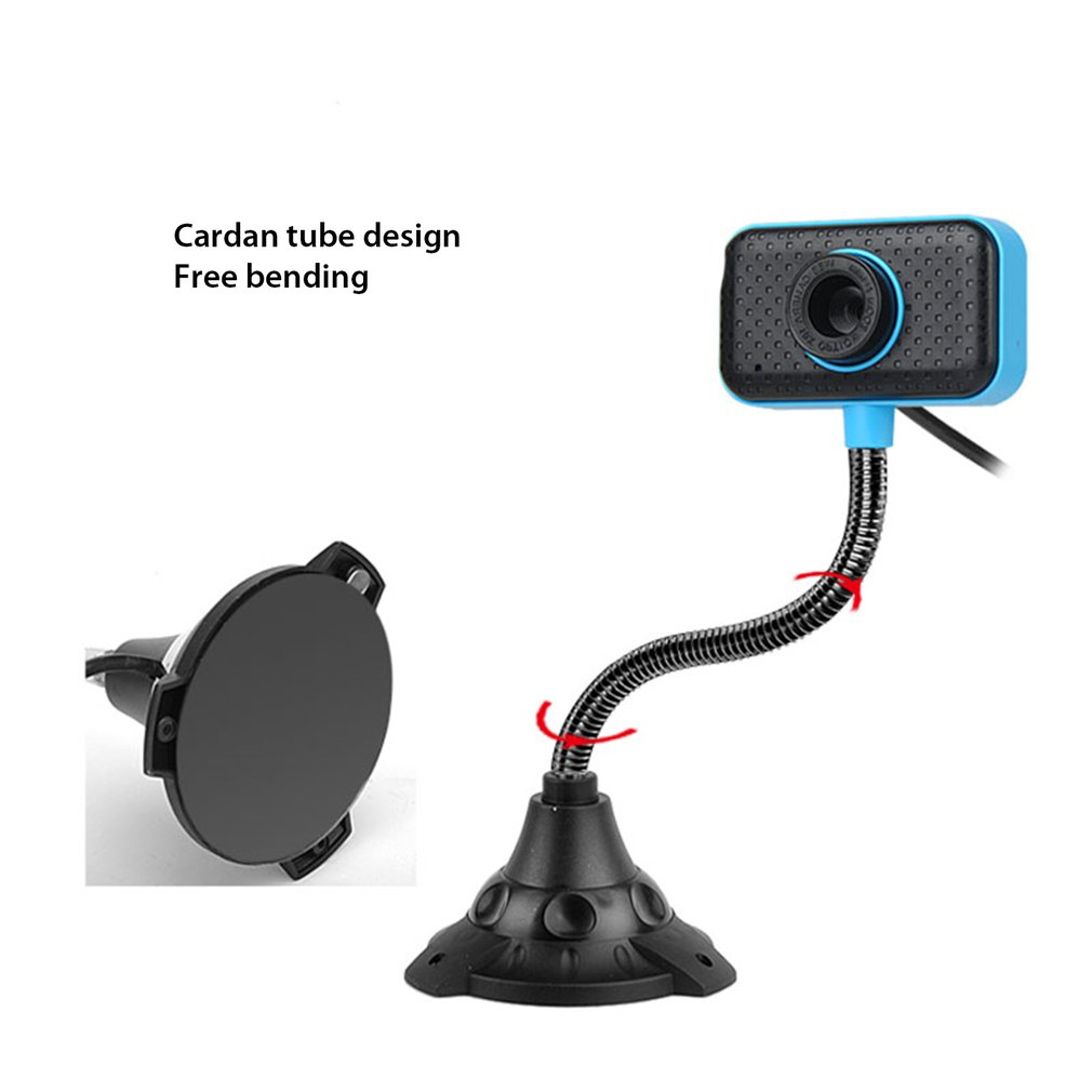 USB 2.0 Rotatable Computer Webcam With Microphone PC Digital HD Video Camera Practical Portable Camera
