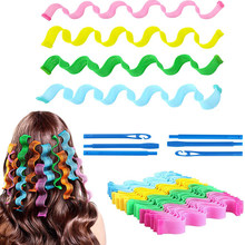 12/18Pcs DIY Magic Hair Rollers Snail Shape Curler Hairdressing Sticks Spiral Curls Round Random Color Salon Hairstyle Tools