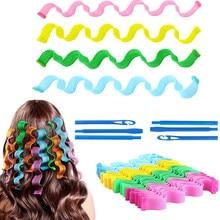 Bâtonnets pour bigoudis en spirale en forme d'escargot, outils de coiffure pour Salon de coiffure, 12/18 pièces
