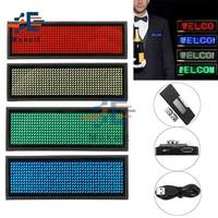 Placa con nombre LED Digital, placa con placa de 15 idiomas, recargable, programable, duradero, módulo de insignia