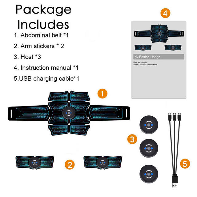 Abdominal Belt Electrostimulation ABS Muscle Stimulator Hip Muscle Trainer