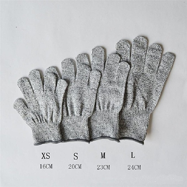 High-strength Grade Level 5 Protection Safety Anti Cut Gloves Kitchen Cut Resistant Gloves for Fish Meat Cutting Safety Gloves 6